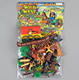 COWBOYS and INDIANS - GIANT 42 Pc. Play Set - Teepees - Canoes, Chiefs, Indian Poles & More! **FACTORY SEALED**