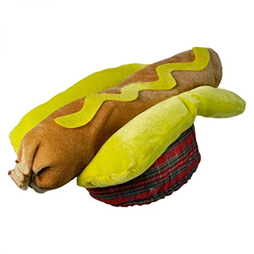 Hot Dog Hat Costume Frankfurter Hotdog Sausage Bun Weiner Cap BBQ Food