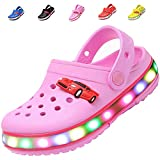 adituo Children Girls Boys LED Clogs Flash Lighted Sandals Shoes,Summer Breathable Slippers