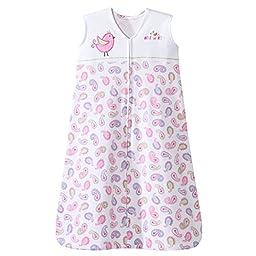 HALO SleepSack 100% Cotton Wearable Blanket, Pink Pretty Paisley, Large