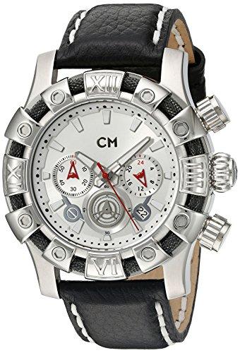 Carlo Monti - CM122-112 - Montre Homme - Quartz Chronographe - Chronomètre - Bracelet Cuir Noir