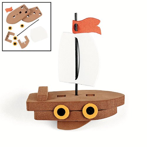 Fun Express 3D Floating Ship Craft Kit (1 Dozen)