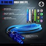 New Tonic Washable Lounge Style Hookah Hose Blue