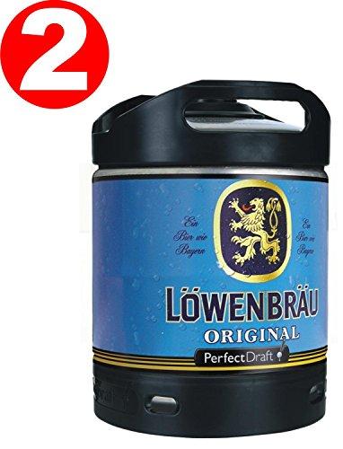 2-x-lowenbrau-originales-perfect-draft-barril-de-cerveza-6-litro-52-vol