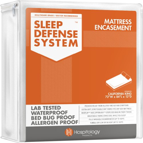 Learn More About Hospitology Sleep Defense System Waterproof/Bed Bug Proof Mattress Encasement, Cali...