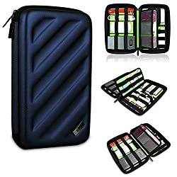 BUBM Portable EVA Hard Drive Case Travel Organizer Electronics Accessories /Cables & Accessories/ Hard Drive Shockproof Waterproof Digital Products to Receive a Package (Blue Large)