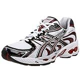 ASICS Men's GEL-Nimbus 11 Running Shoe,White/Black/Red,12 D US