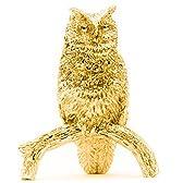 フクロウ(Lサイズ) 22ct ゴールドプレート イギリス製 アニマル アート フィギュア コレクション