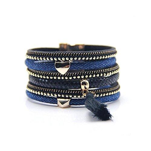 Cinturino brasiliano Boho-Confezione da 48, 19 cm
