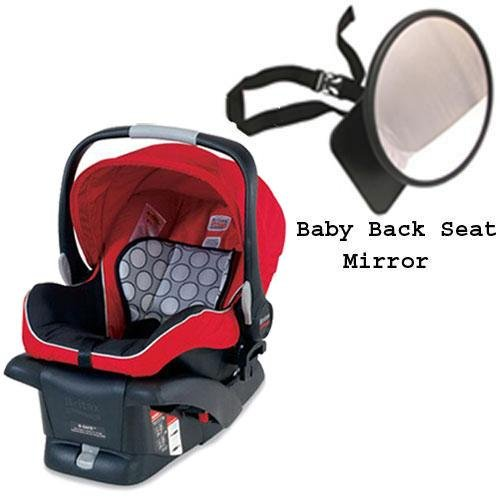 Britax - B-Safe Infant Car Seat in Red w Back Seat Mirror