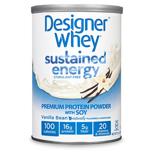 Bulk Saver Pack 2X12 Oz : Designer Whey Protein Powder - Sustained Energy Vanilla Bean