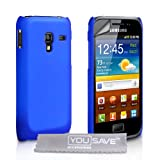 Samsung Galaxy Ace Plus S7500 Case Blue Hard Back Hybrid Back Case Cover With Screen Protector Film And Grey Micro-Fibre Polishing Clothby Yousave Accessories