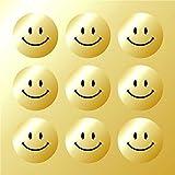 Gold Smiley Faces Reward Sticker Pack-Metallic