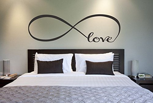 LUCKKYYLove Infinity Symbol Large 59wx23h Inch Bedroom Wall Decal Sticker Quote Decals Wall Art Stickers Decal Home Decor Decorate (Infinity Wall Decal compare prices)