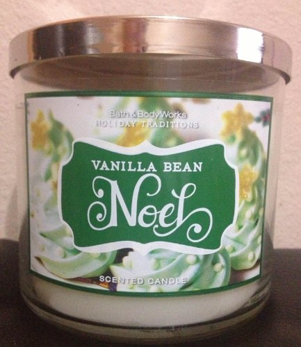 Bath and Body Works Vanilla Bean Noel 3 Wick Candle 2012 Design 14.5 Oz