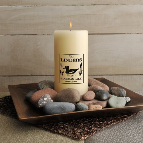 Jds Personalized Wood Duck Cabin Candle