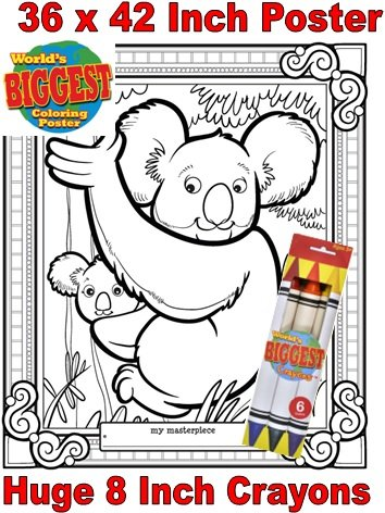Just For Laughs World's Biggest Coloring Posters Combo- Koala Bear - 1