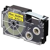 Casio YW 12 mm Black on Yellow, XR-12YW1