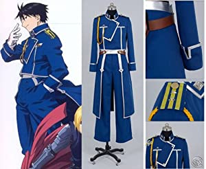 Fullmetal Alchemist Roy Mustang Cosplay Costume-Nation al Army Military Uniform