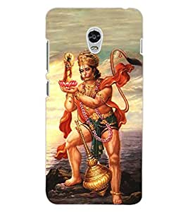 ColourCraft Lord Hanuman Design Back Case Cover for LENOVO VIBE P1