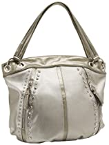 Hot Sale KATHY Van Zeeland Pop Rock Star Shoulder Bag,Pewter,One Size