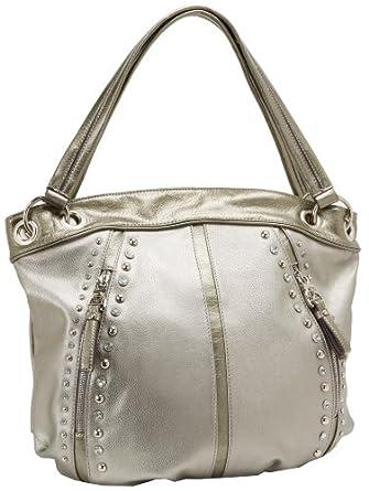 KATHY Van Zeeland Pop Rock Star Shoulder Bag,Pewter,One Size