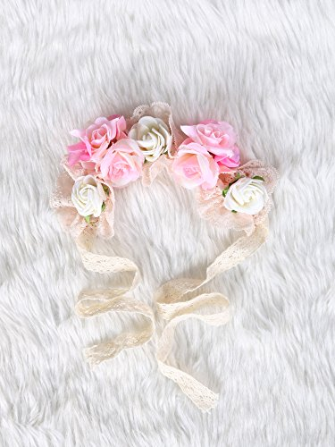 [Be gorgeous flowers headband /Rose Crown/Bohemian style (Dusty Rose)] (Costumes By Dusty)