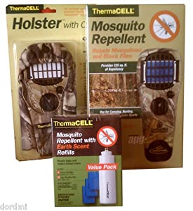 Thermacell Mosquito Repellent Kit: Camo Appliance APG+Realtree Holster+Earht Scent...