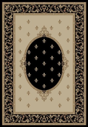 Concord Jewel F. Lys Medallion Black 3'11' X 5'7