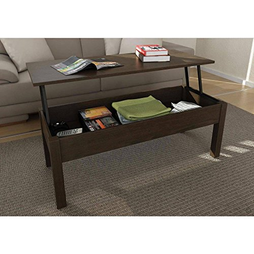 Full Extending and Storage Inside Lift-Top Coffee Table, Espresso (Espresso Lift Top Table compare prices)