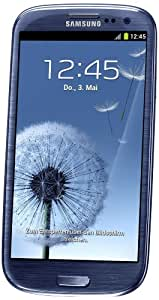 Samsung Galaxy S III I9300 Smartphone 32 GB (12,2 cm (4,8 Zoll) HD Super-AMOLED-Touchscreen, 8 Megapixel Kamera, Micro-SIM, Android 4.0) pebble-blue
