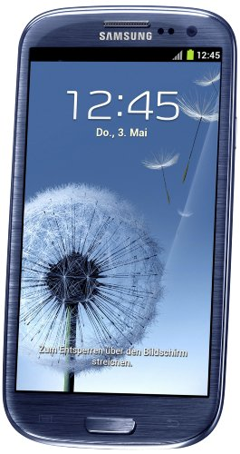 Samsung Galaxy S III/S3 GT-I9300 Factory Unlocked Phone - International Version (Pebble Blue)