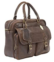 Claire Chase Traveler's Briefcase, Distressed Brown, One Size