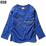 (ディーティー) DT キッズ M1-3 ボーイズ お肌にやさしい綿100% プリント 長袖 Tシャツ ロゴ パロディ ストリート スポーツ アメカジ ロンT160 028