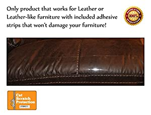 Cat Scratch Protection on Any Couch, Sofa or Chair, Works for Leather and Upholstered Furniture, 2 Scratching Guards Included, Scratching Deterrent, Deter Cats, Prevent Scratches, Made in USA