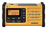 Sangean-MMR-88-tragbares-Kurbelradio-UKWMW-Tuner-Taschenlampe-Notfall-Signalton-integrierter-Li-Ion-Akku-Kopfhreranschluss-gelbschwarz