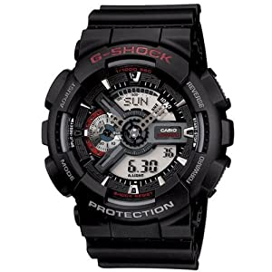 Casio Men's G-SHOCK - The GA 100-1A1 Military Series Watch in Black by G-SHOCK