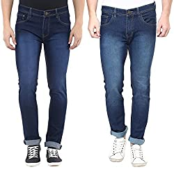 Stylox Set Of 2 Mens Skinny Fit Jeans