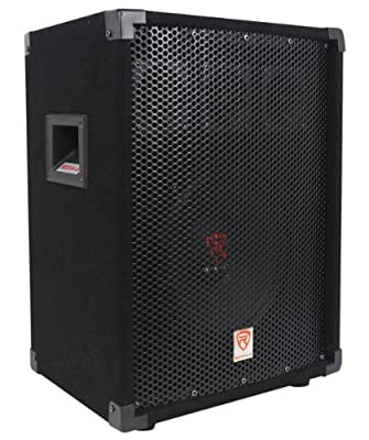 """Rockville RSG-10 Single 10"""" Two-Way 400 Watts Peak/150 Watts RMS Pro Audio Passive Loudspeaker With Three 3"""" Piezo Bullet Tweeters and a 1.5"""" High Temperature Voice Coil For Amazing Sound and Performance"""