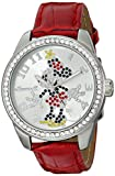 Ingersoll Women's IND 25655 Disney Classic Crystal-Accented Watch with Red Leather Band