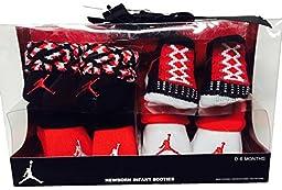 Nike Air Jordan Newborn Baby Boy\'s Booties, 4 Pair Gift Set, Size 0-6 Months