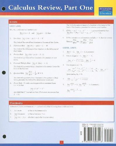 Addison-Wesley's Calculus Review, Part 1 (Pt. 1)