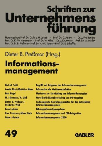 Informationsmanagement (Schriften zur Unternehmensfuhrung)  (Tapa Blanda)