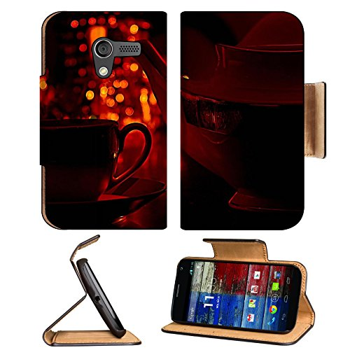 Coffee Cup Pot Romantic Light Motorola Moto X Flip Case Stand Magnetic Cover Open Ports Customized Made To Order Support Ready Premium Deluxe Pu Leather 5 7/16 Inch (138Mm) X 3 1/16 Inch (78Mm) X 9/16 Inch (14Mm) Msd Mobility Cover Professional Motox Case front-638935