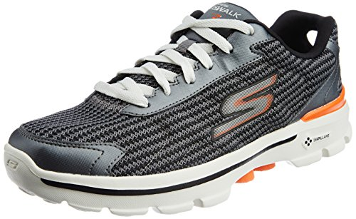 skechers-mens-gowalk-3-fitknit-sneaker-uomo-grigio-charcoal-orange-43