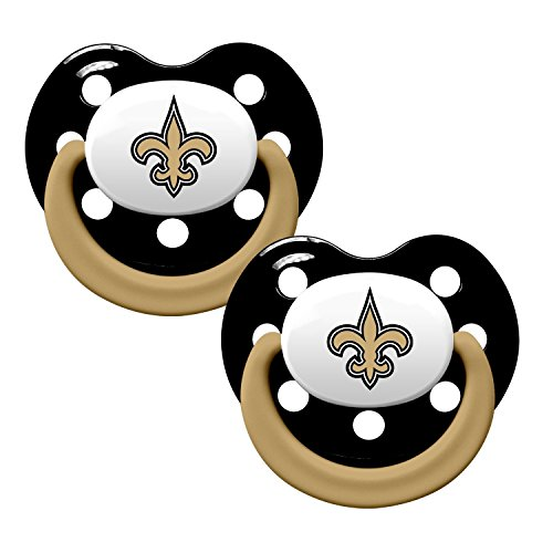 Baby Fanatic Pacifiers, New Orleans Saints, 2 count - 1