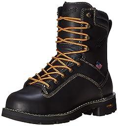 Danner Men\'s Quarry USA 8-Inch AT Work Boot,Black,10.5 D US