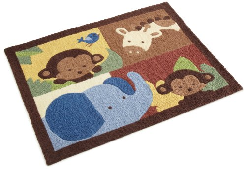 Kids Line Jungle 123 Rug, Brown front-989863