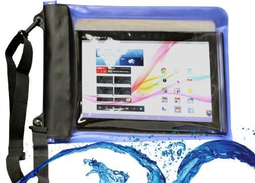Navitech Blaues Wasserfestes Case, Wasserfestes Cover für 10 Zoll Tablets Inklusive das ASUS Eee Pad Transformer TF101 / ASUS Transformer Prime TF201 / ASUS Transformer Pad TF300 / Asus Transformer Pad Infinity TF700 / Asus Transformer Pad TF701 / Asus MeMo Pad 10 / Smart ME301T / Asus ME302C MeMO Pad FHD 10 / Asus VivoTab ME400c / Asus Vivo TF600T 10.1 / Asus PadFone X / Asus Transformer Book Duet TD300 / Asus Transformer T100