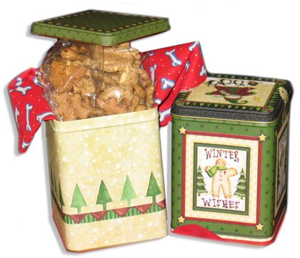 Christmas Dog Treat Gift Tins or Decorative Christmas Box - Christmas Treats for Dogs! - Heidi's Homemade
